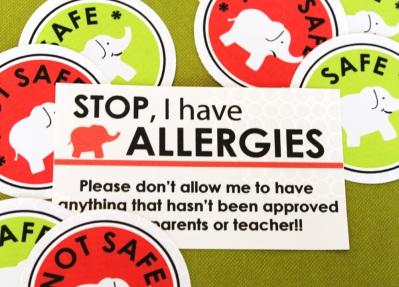 Free safe not safe labels for foods